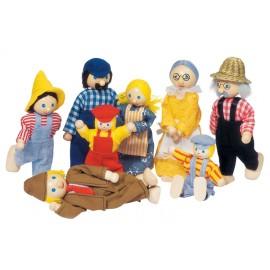 Figurky Rodina Farmář, 8 ks v balení