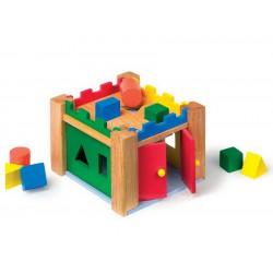 Dřevěná vkládačka Hrad