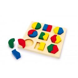 Dřevěná geometrická vkládačka Geo-Puzzle