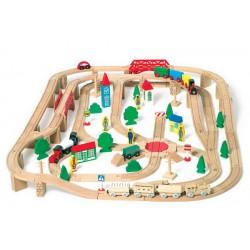 Dřevěná vláčkodráha (železnice), 140 ks včetně točny