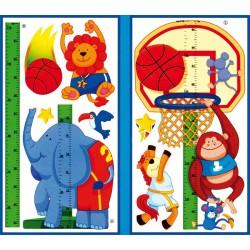 Samolepící dekorace Dětský metr Basketbal