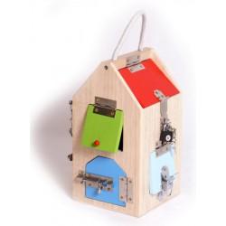 Dřevěný klíčový domek Dům se zámky