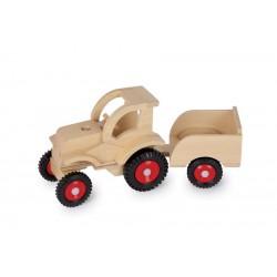 dreveny-traktor-s-vozikem