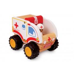 Dřevěná sanitka ambulance 14 cm