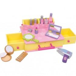 Dřevěný box - kosmetický kufřík