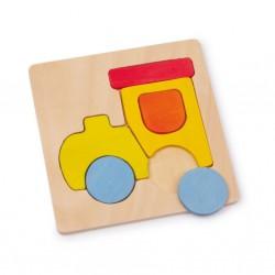 Dřevěné puzzle - dopravní prostředky, 4 ks