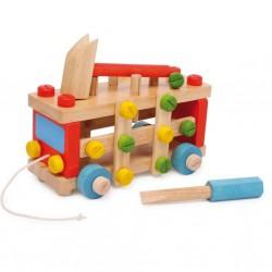 Dřevěné stavebnice auto