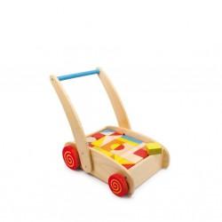 Dřevěný vozík aktivní chodítko se stavebnicí