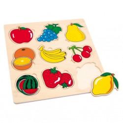 Dřevěné puzzle - Ovoce