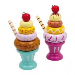 Dřevěné potraviny - Zmrzlinové poháry 16 cm, 2 ks v balení