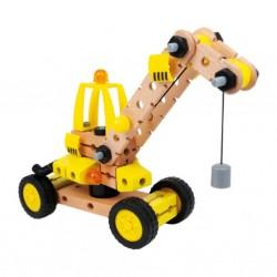 Dřevěné stavebnice auto - jeřáb