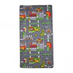 Hrací koberec oboustranný - Město a Farma
