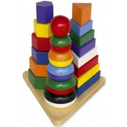 Dřevěná skládačka Pyramida 3v1