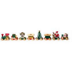 Vánoční dekorace - Svícen Vláček s dárky