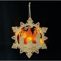 Vánoční dekorace - Světlo Betlém s hvězdou