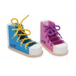 Učíme se zavázat tkaničku - 2 boty