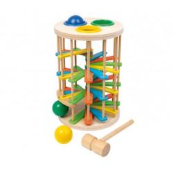 Zatloukačka s míčky Kuličková dráha Tower