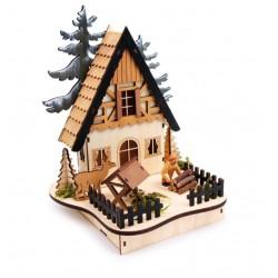 Vánoční dekorace - Světlo Lesní chaloupka