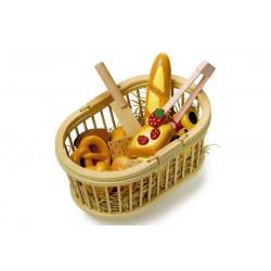 Dřevěné potraviny - Košík na piknik
