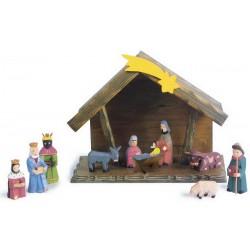 Vánoční dekorace - Jesle vyřezávané