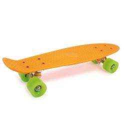 Skateboard Neon oranžový, 56 cm