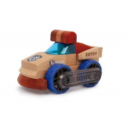 Dřevěné autíčko - Policejní vůz