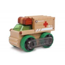 Dřevěné autíčko - Ambulance