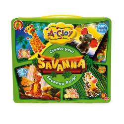Jílová hmota + barvy: Savana