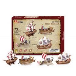 3D lodě, 4 ks