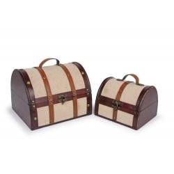Dřevěný box Látkový potah, 2 ks v balení
