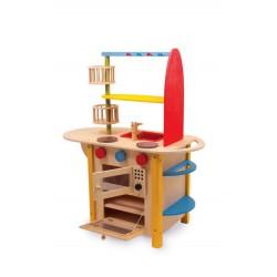 Dětská dřevěná kuchyňka vše v jednom Deluxe