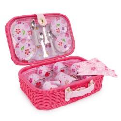 Piknikový kufřík Květiny, 21 dílů