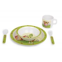 5-dílný Dětský jídelní set, motiv Tobi a Lilly