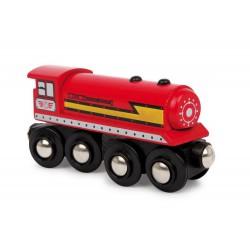 Dřevěná vláčkodráha - 3 lokomotivy